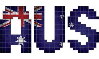 Mosaic letter flag of Australia