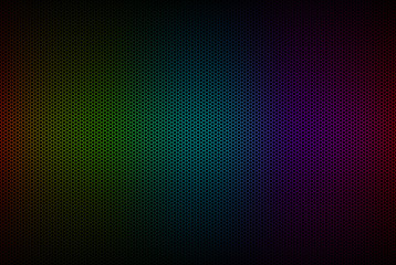 Abstract background with hexagonal pattern with rainbow colors, polygons wallpaper, vector illustration