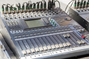 Dj dusty mixer console.
