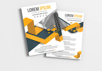 Brochure Layout with Gray and Orange Accents 12