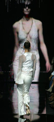 A model displays a creation as part of John Richmond's Spring/Summer 2007 women's collections in Milan
