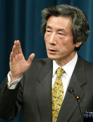 JAPANESE PRIME MINISTER KOIZUMI HOLDS NEWS CONFERENCE IN TOKYO.
