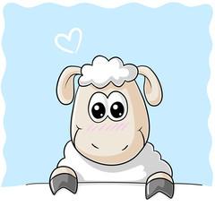 Schüchternes Comic Schaf