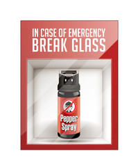 In case of emergency break glass - self defence concept
