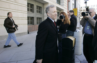 Vice President Dick Cheney's former Chief of Staff I. Lewis 'Scooter' Libby departs Federal Court in Washington