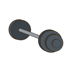 dumbbell weight gym metal equipment vector illustration
