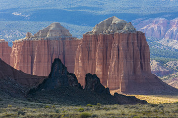 USA, Utah, Capitol Reef National Park. Cathedral Valley landscape. Credit as: Don Paulson / Jaynes Gallery / DanitaDelimont.com (Large format sizes available)