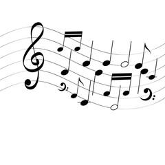 Vector vector music notes