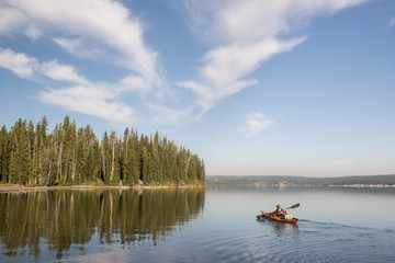 Kayaking in Yellowstone National Park (Large format sizes available) (MR)