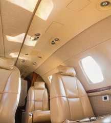 Interior of Cessna Citation Jet