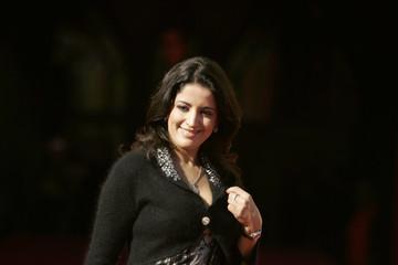 Moroccan actress Sana Mouziane poses at the 7th Marrakesh International Film Festival