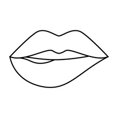 sensual lips icon over white background. vector illustration
