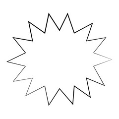 Retro burst comic pop art icon over white background. vector illustration