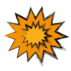 Retro burst comic pop art icon over white background. vector illustration