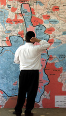 ULTRA ORTHODOX JEW STUDIES MAP DEPICTING HOW JERUSALEM MIGHT BE DIVIDED.