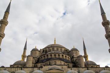 High Section Of Blue Mosque Against Sky