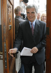 Austrian Chancellor Faymann of the Social Democrats'  arrives for a party executives meeting in Vienna