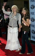 Courtney Love and daughter Frances Bean arrive at the finale of American Idol.