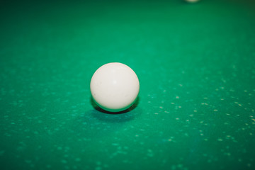 Sphere for playing billiards. Billiard table. Gambling billiards.