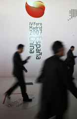 People attend the IV Spain-China Forum in Madrid