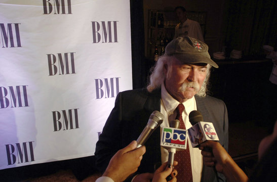 BMI Icon Award recipient David Crosby is interviewed at  the 54th annual BMI Pop Awards held  in Beverly Hills, California