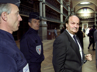 MICHEL TABACHNIK SEEN AT THE OPENING OF THE SOLAR TEMPLE TRIAL IN GRENOBLE.