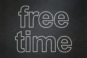 Time concept: Free Time on chalkboard background