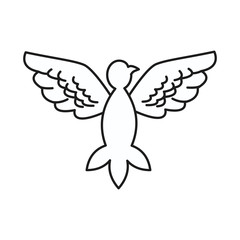 dove peace flying wings symbol design vector illustration