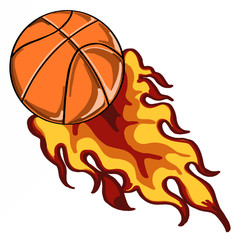 fireball with basketball