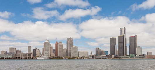 Skyline of Detroit seen from the Canadian town of Windsor