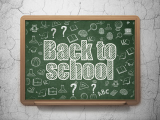 Learning concept: Back to School on School board background