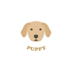Vector Illustration Portrait of Labrador Puppy.