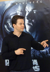 ACTOR MARK WAHLBERG POSES FOR PICTURES DURING A MOVIE PRESENTATION INBARCELONA.