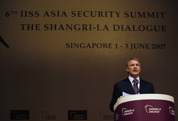 New Zealand's Minister of Defence Goff speaks at the Shangri-La Dialogue security conference in Singapore