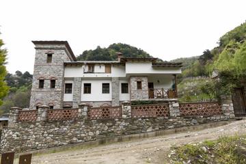 Holy mountain Athos, Greece, april 2017 – different views of monasteries