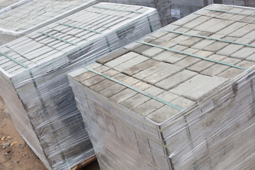 Warehouse of building tiles. The warehouse of building tiles is ready for work.