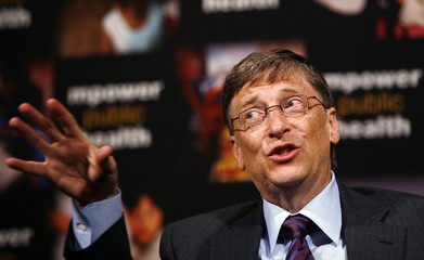 Bill Gates speaks during a news conference announcing joint efforts with Michael Bloomberg to combat the global tobacco epidemic in New York