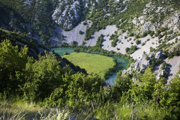 Krupa river canyon in Croatia