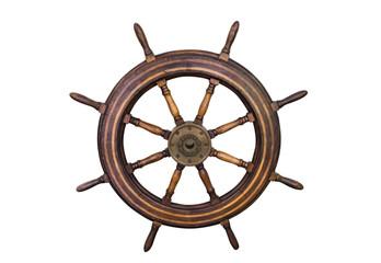 Marine steering wheel isolated