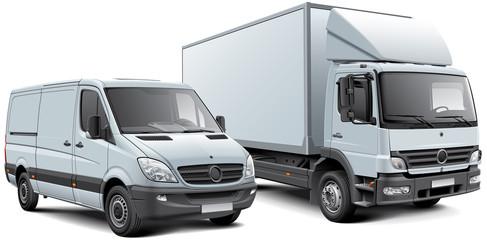 Box truck and light goods vehicle