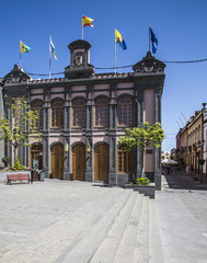 Town Hall in the main square in Arucas on Gran Canaria, one of the Canary Islands.
