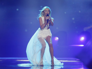 """Poland's Kasia Mos performs with the song """"Flashlight"""" during the Eurovision Song Contest 2017 Semi-Final 1 at the International Exhibition Centre in Kiev"""