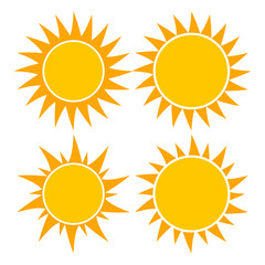 sun set vector symbol icon design. Beautiful illustration isolated on white background
