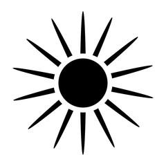 sun silhouette vector symbol icon design.