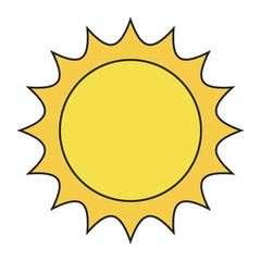 sun vector symbol icon design. Beautiful illustration isolated on white background