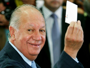 Chilean President Lagos votes in general elections in Santiago