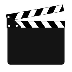 Clapper board flat icon