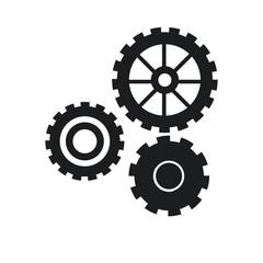 gear work mechanical cooperation pictogram vector illustration