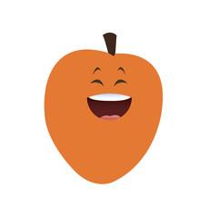 kawaii apricot fruit food diet vector illustration