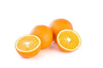 Oranges on white bacground